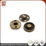 Botón redondo de encargo del metal del broche de presión del individuo de Monocolor de la manera