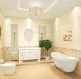 Mattonelle di ceramica della stanza da bagno gialla di colore per il pavimento e la parete
