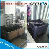 Potenciômetro plástico da planta da erva da caixa da base do plantador do jardim do pátio do quadrado do retângulo