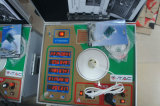 O diodo emissor de luz do equipamento de teste e o verificador os mais novos das lâmpadas