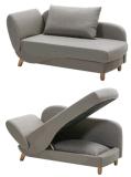 ビッグストレージと長椅子ソファベッド(B038)