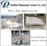 A mineração de pedra que Quarrying perfilando o fio concreto da estaca de Freinforced considerou