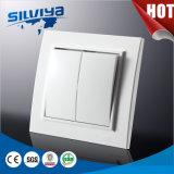 Interruptor unidireccional eléctrico de la pared de dos cuadrillas