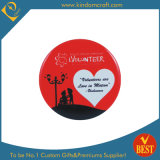 Distintivo personalizzato del tasto stampato del ricordo di marchio di prezzi di fabbrica per l'anniversario o la pubblicità