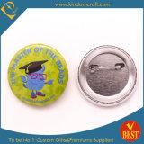 ギフトとしてかわいい様式の子供の頭脳の錫ボタンのバッジ