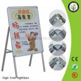 Suporte de cartaz de alumínio de frente e verso ao ar livre para publicidade