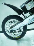Uma bicicleta esperta do bolso E da dobradura elétrica do segundo com bateria de lítio