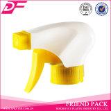 Pulvérisateur en plastique de déclenchement de l'usine 28/400 jaune de la Chine de couleur