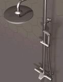 Funzione termostatica del rubinetto fissato al muro dell'acquazzone