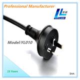 Enchufe del cable eléctrico del estilo de SAA Australia de 7.5A Yl010