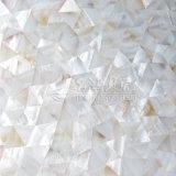 Azulejo de mosaico blanco puro del shell de la madre del triángulo irregular de agua dulce de la perla