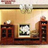 居間の家具固体木TVの立場/TVのキャビネット(GSP13-006)