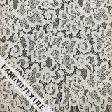 Tela material do laço do algodão do vestido bonito
