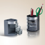 Runder Plastikfeder-Halter für Schreibtisch-Speicher-Schreibtisch-Organisator