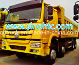 팁 주는 사람 트럭을%s 사용된 Hovo 쓰레기꾼 트럭 (8*4 의 4 차축)