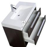 Vaidade das gavetas da mobília 2 do banheiro do hotel com o gabinete da parte superior do mármore do dissipador