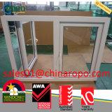 Het Openslaand raam van pvc, het Dubbele Openslaand raam van het Effect van de Orkaan