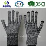 Handschoen van het Werk van de Veiligheid van de besnoeiing de Bestand met Met een laag bedekt pvc