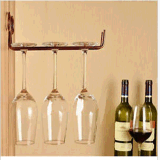 Estante de cristal del sostenedor del acero inoxidable de la cara del soporte de vino del vidrio de la taza de bronce del estante