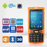IDENTIFICATION RF du support NFC d'appareils pour le PDA et relevé tenus dans la main de code à barres