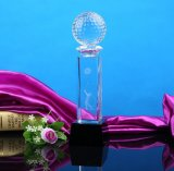 Kundenspezifische Kristallglas-Trophäe mit Kugel