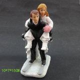 عرس قالب [توبّر] تمثال صغير رومانسيّ عروس وعريس راتينج زخرفة حالة حبّ معروفة