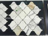 Mosaico di marmo bianco di Calacatta, mosaico di marmo rotondo