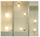 Hotsale runde Kugel-Metall und Glaswand-Lampe