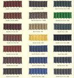Azulejo de azotea revestido del metal de la piedra colorida para el chalet