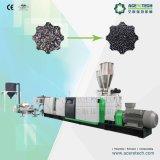Escamas de dos fases del plástico que reciclan la máquina de la granulación