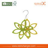 Роскошная пластмасса ABS Flocking вешалка шарфа формы цветка 6 отверстий