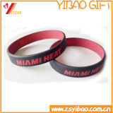 Logo encomenda impresso promocional de borracha de silicone pulseira (YB-LY-WR-36)