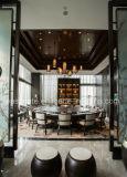 Restaurant moderne dinant en cuir de présidence