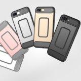 Protección gota de doble capa de cubierta de PC + TPU para el iPhone 7 Plus