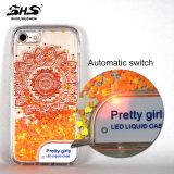 Shs che Shinning la cassa chiara del telefono di Bling LED per Samsung J7