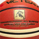Баскетбол прокатанный фирменным наименованием составной кожаный