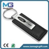 Atacado Auto Car Brand Metal Leather Keychain
