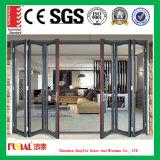 Алюминиевые складывая окно и дверь для конструкции и украшения