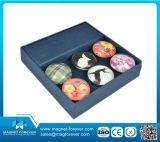 Imanes cuadrados del refrigerador del vidrio cristalino del anillo para la aduana