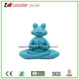 Polyreisn 가정 훈장과 정원 장신구를 위한 파란 색깔을%s 가진 장식적인 요가 개구리 동상