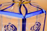 Caixa de presente transparente para o aniversário, casamento, cerimónia de inauguração que empacota a caixa plástica