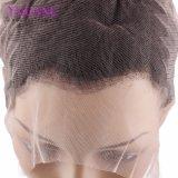 Frontal pieno del merletto dell'onda 360 allentati brasiliani, chiusura del Frontal del merletto dei capelli umani del Virgin 22.5X4