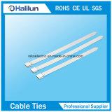 Serre-câble enduit de blocage de PVC O de l'acier inoxydable 304