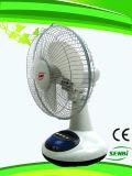 12 Zoll nachladbarer Ventilator-Solartischventilator Gleichstrom-Ventilator-