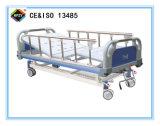 (A-48) Cama de hospital manual Double-Function movible con la pista de la base del ABS