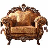 Sofá de la tela con el marco y el vector de madera de la cara (D929) del sofá