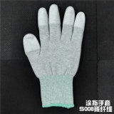 Gants enduits de fibre antistatique de carbone de Cleantoom
