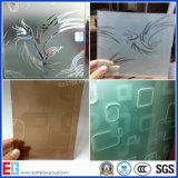 De vidro gravado ácido de Clear&Tinted/Sandblasted o vidro/vidro colorido do vidro do vidro geado/geada/Sandblasting/vidro obscuro