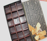 Rectángulo de papel rígido del chocolate del embalaje del regalo de la cartulina del OEM con la cinta