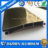 산화를 가진 주문을 받아서 만들어진 롤러 회전 셔터 문 알루미늄 제품 알루미늄 밀어남 단면도